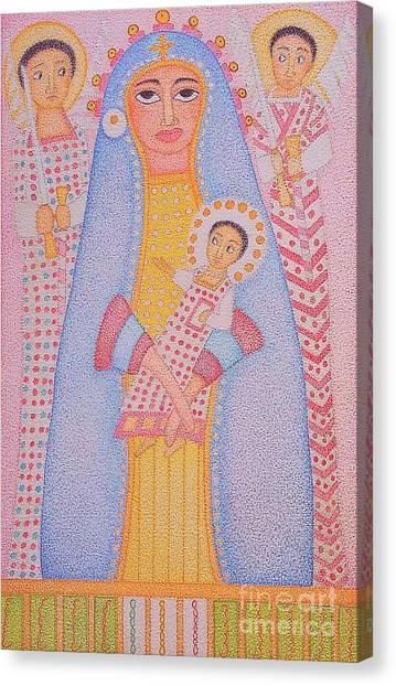 Virgin Saint Mary And Her Son Canvas Print