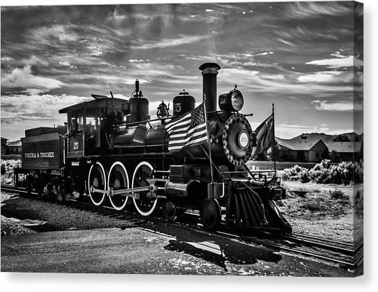 Steam Trains Canvas Print - Virgina Truckee Steam Train 25 by Garry Gay