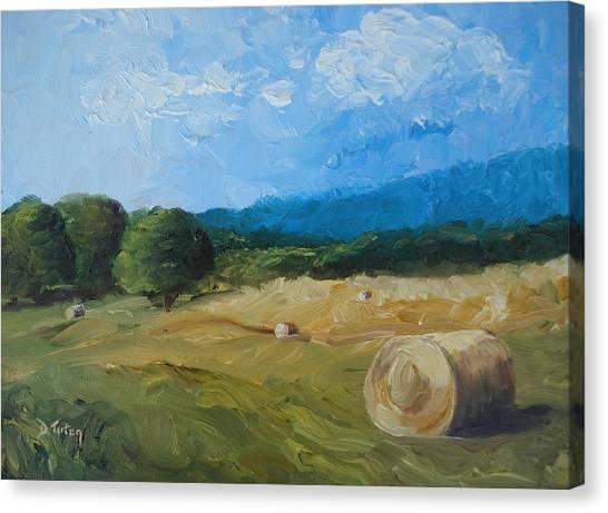 Virginia Hay Bales II Canvas Print