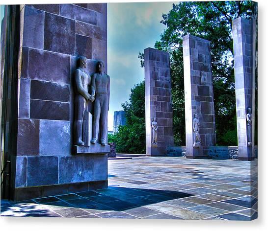 Rotc Canvas Print - Virginia Tech - War Memorial by Andrew Webb