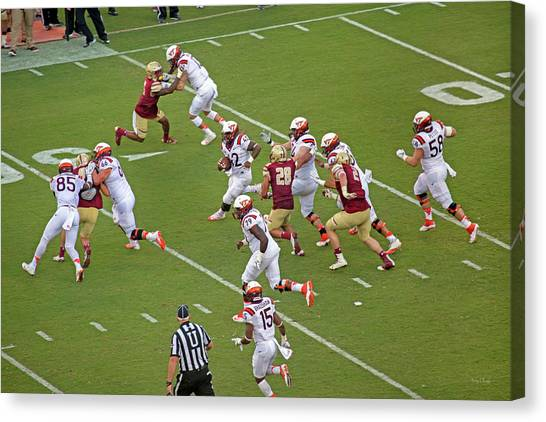 Boston College Canvas Print - Virginia Tech Football Homecoming by Betsy Knapp