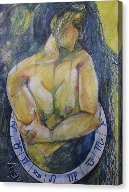 Fineart Canvas Print - Virgo by Brigitte Hintner