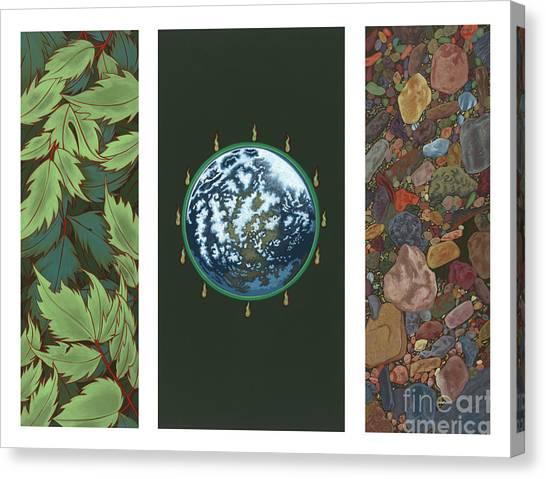 Viriditas Triptych Canvas Print