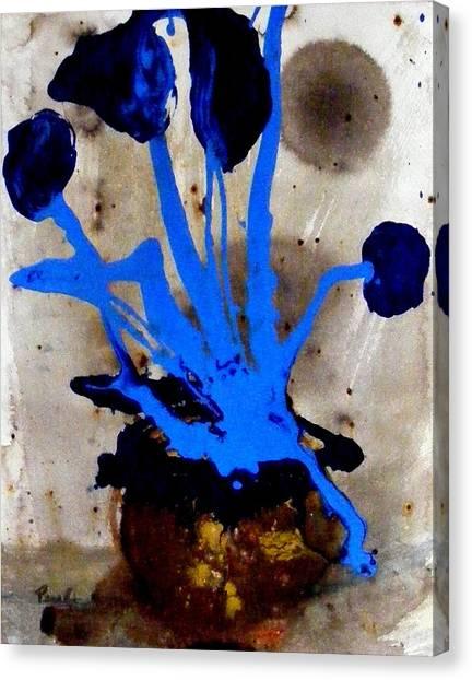 Virtually Blue Canvas Print