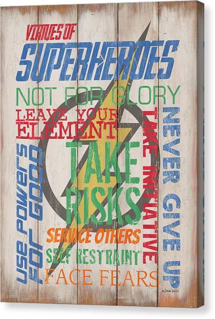 Costume Canvas Print - Virtues Of A Superhero by Debbie DeWitt