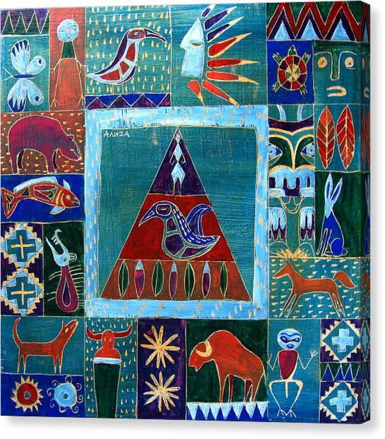 Vision Of Native North America Canvas Print by Aliza Souleyeva-Alexander