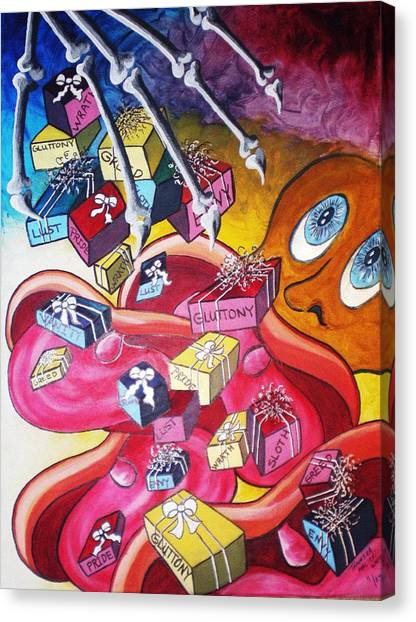 Vision Of Vices Canvas Print by Tammera Malicki-Wong