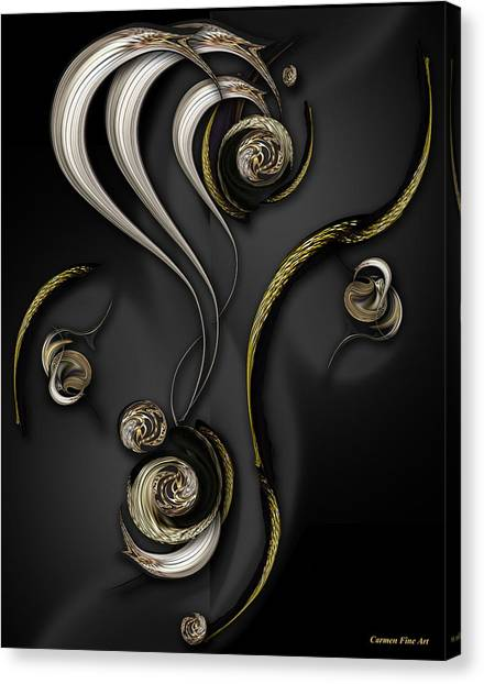 Canvas Print featuring the digital art Visionary Material by Carmen Fine Art