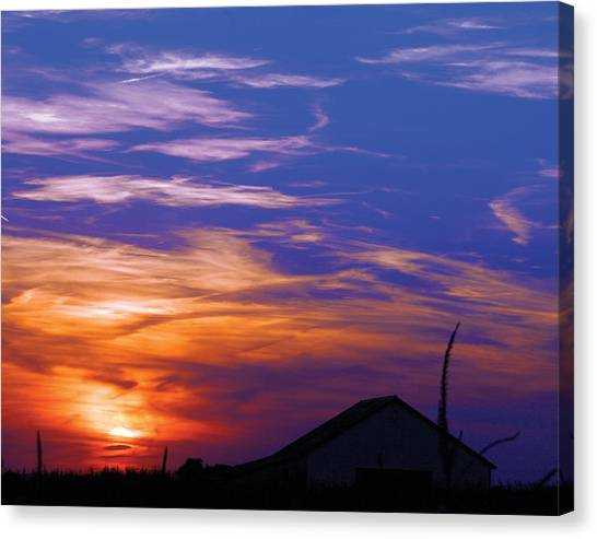 Visionary Sunset Canvas Print by Carl Perry