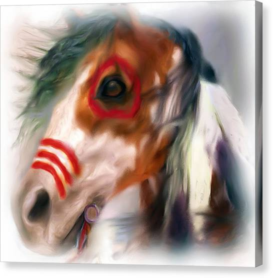 Visionary War Horse Canvas Print