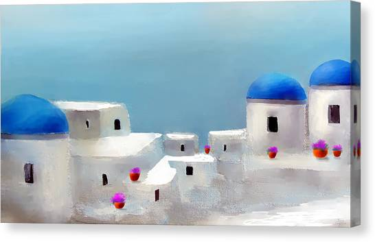 Visions Of Greece Canvas Print
