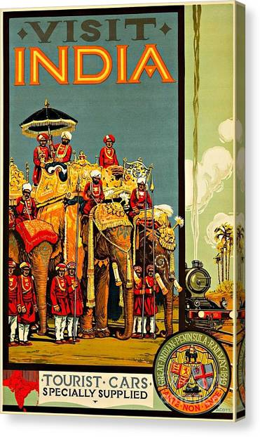 Sikh Art Canvas Print - Visit India The Great Indian Peninsula Railway II 1920s A R Acott by Peter Ogden
