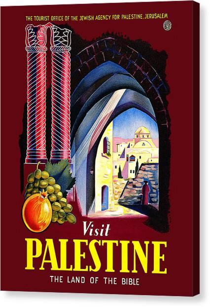 Palestinian Canvas Print - Visit Palestine, The Land Of Bible by Long Shot