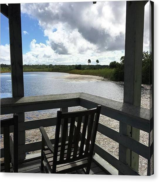 Everglades Canvas Print - #visitorcenter #porch #everglades by Patricia And Craig