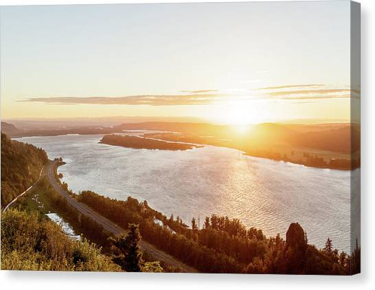 Vista House Sunset Canvas Print by Jason Clarke