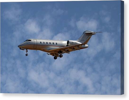Jet Canvas Print - Vista Jet Bombardier Challenger 300 1 by Smart Aviation