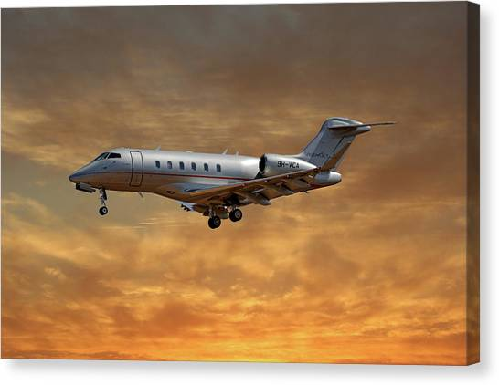 Jets Canvas Print - Vista Jet Bombardier Challenger 300 2 by Smart Aviation