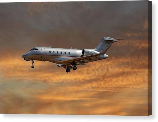 Jet Canvas Print - Vista Jet Bombardier Challenger 300 3 by Smart Aviation