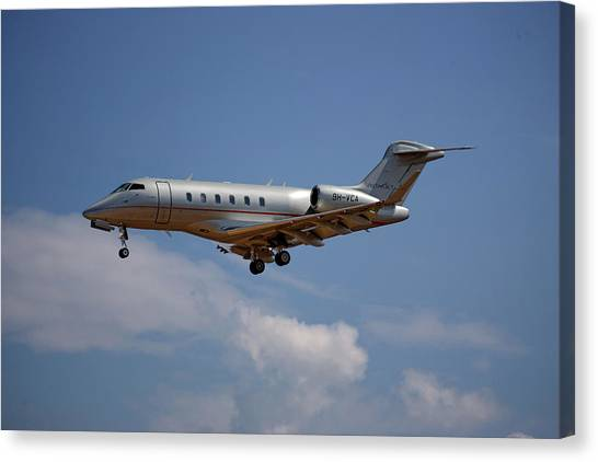 Jet Canvas Print - Vista Jet Bombardier Challenger 300 4 by Smart Aviation