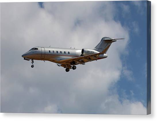 Jets Canvas Print - Vista Jet Bombardier Challenger 300 5 by Smart Aviation