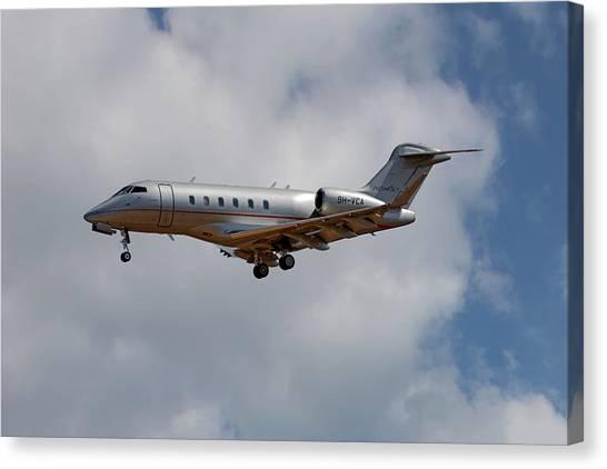 Jet Canvas Print - Vista Jet Bombardier Challenger 300 5 by Smart Aviation