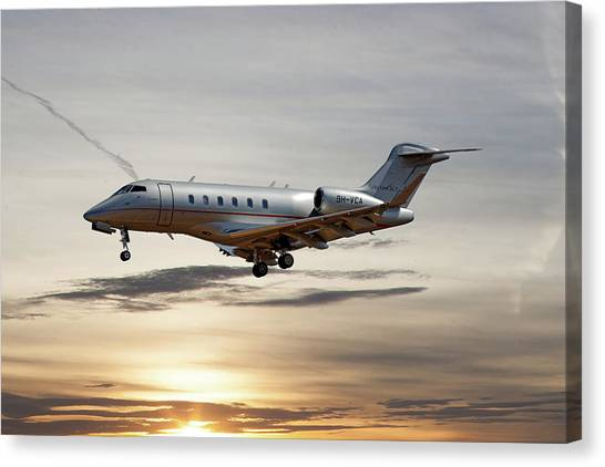 Jet Canvas Print - Vista Jet Bombardier Challenger 300 by Smart Aviation