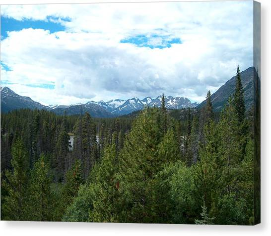 Vistas Along The Alcan Canvas Print by Janet  Hall