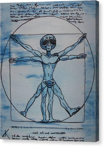 Vitruvian Alien Canvas Print