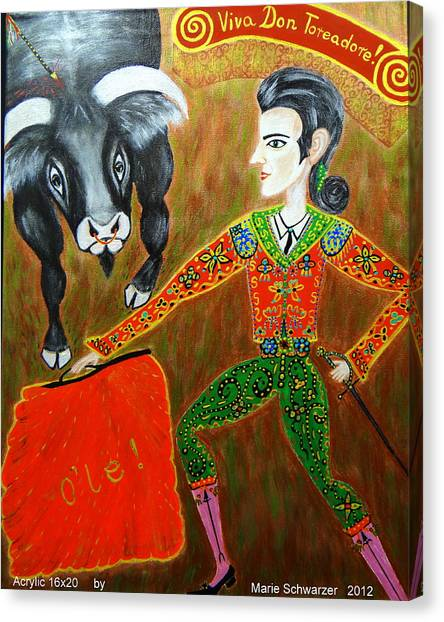 Viva Don Toreadore Canvas Print