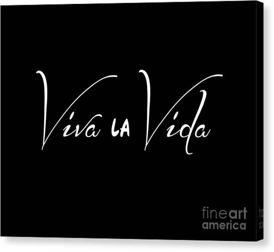 Black And White Canvas Print - Viva La Vida by L Bee