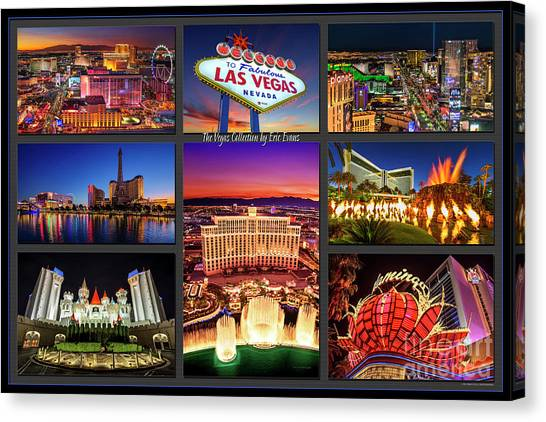 Viva Las Vegas Collection Canvas Print
