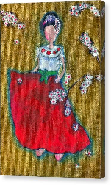 Viva Sakura Canvas Print by Ricky Sencion