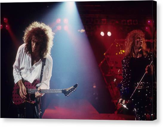 Whitesnake Canvas Print - Vivian Campbell And David Coverdale by Rich Fuscia