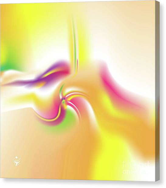 Canvas Print featuring the digital art Vividaee - Abstract Art Print - Fantasy - Digital Art - Sea Flower - Fine Art Print by Ron Labryzz