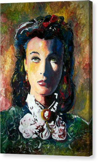 Gone With The Wind Canvas Print - Vivien Leigh - Gone With The Wind by Marcelo Neira