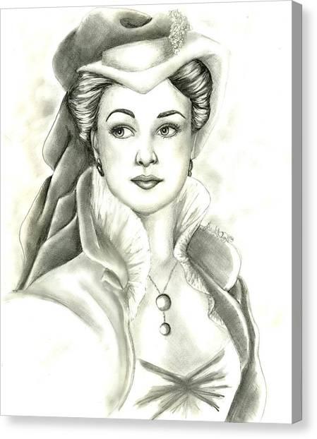 Vivien Canvas Print by Scarlett Royal