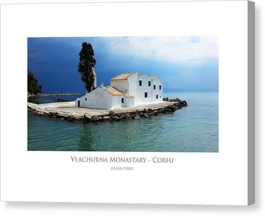 Vlachurna Monastary - Corfu Canvas Print