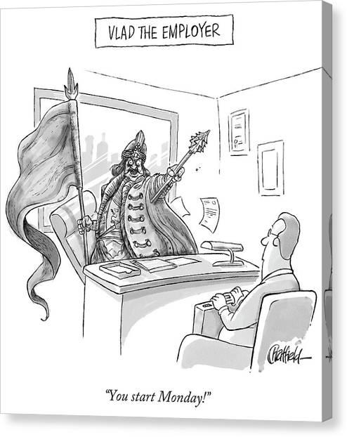 Vlad The Employer Canvas Print
