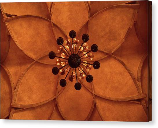 Architectonics Canvas Print - Vladislav Hall Prague Castle  Ceiling by Mihaela Pater