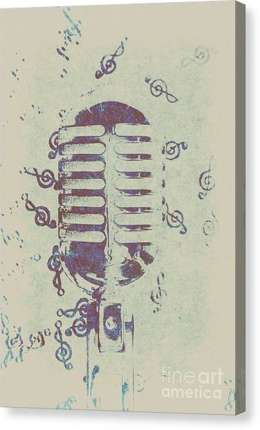 Microphones Canvas Print - Vocal Harmony by Jorgo Photography - Wall Art Gallery