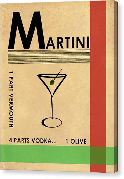 Vodka Canvas Print - Vodka Martini by Mark Rogan