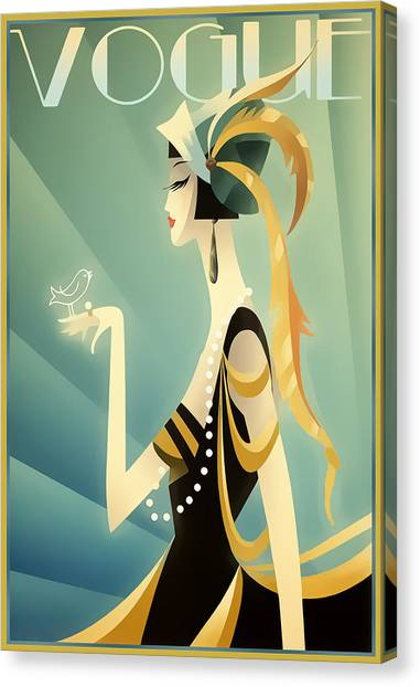 Vogue - Bird On Hand Canvas Print