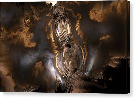 Canvas Print featuring the digital art Voice by Vadim Epstein