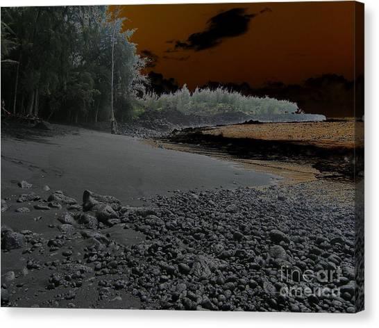 Canvas Print - Volcanic Beach by Silvie Kendall