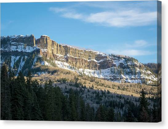 Canvas Print featuring the photograph Volcanic Cliffs Of Wolf Creek Pass by Jason Coward