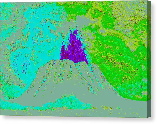 Volcano D4 Canvas Print by Modified Image