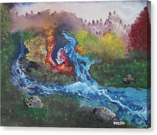 Volcano Delta Canvas Print
