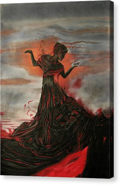 Volcano Keeper Canvas Print