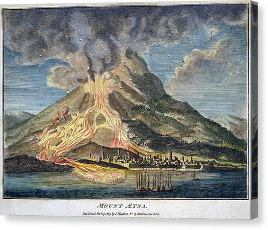 Mount Etna Canvas Print - Volcano: Mt. Etna by Granger