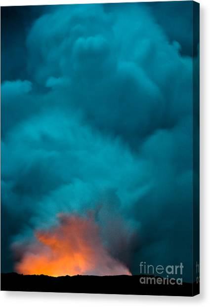 Volcano Smoke And Fire Canvas Print
